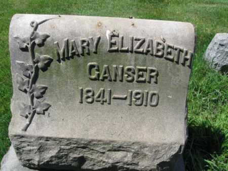 GANSER, MARY ELIZABETH - Montgomery County, Pennsylvania | MARY ELIZABETH GANSER - Pennsylvania Gravestone Photos