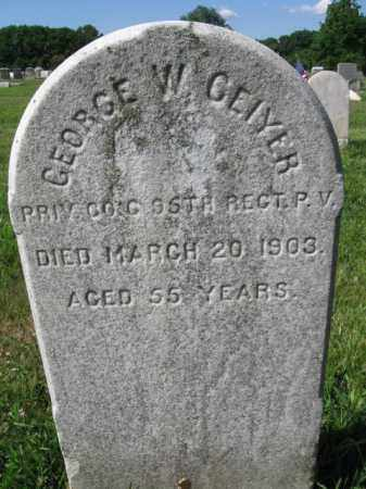 GEIYER (GEIGER) (CW), GEORGE W. - Montgomery County, Pennsylvania | GEORGE W. GEIYER (GEIGER) (CW) - Pennsylvania Gravestone Photos