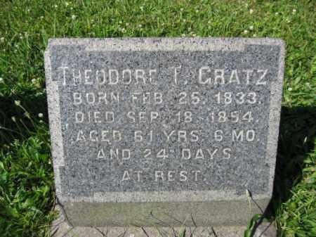 GRATZ (CW), THEODORE T. - Montgomery County, Pennsylvania | THEODORE T. GRATZ (CW) - Pennsylvania Gravestone Photos