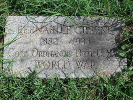 GREENE (WW I), BERNARD F. - Montgomery County, Pennsylvania | BERNARD F. GREENE (WW I) - Pennsylvania Gravestone Photos