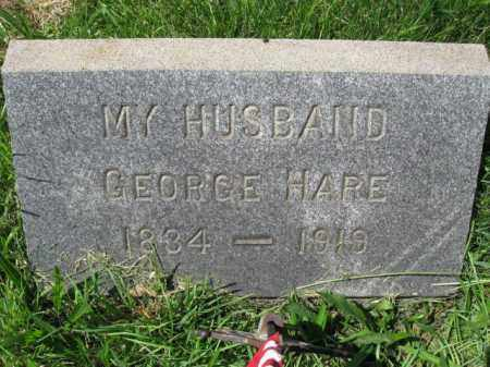 HARE, GEORGE - Montgomery County, Pennsylvania | GEORGE HARE - Pennsylvania Gravestone Photos