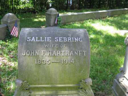 HARTRANFT, SALLIE - Montgomery County, Pennsylvania | SALLIE HARTRANFT - Pennsylvania Gravestone Photos