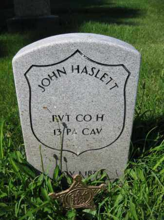 HASLETT (CW), JOHN - Montgomery County, Pennsylvania | JOHN HASLETT (CW) - Pennsylvania Gravestone Photos