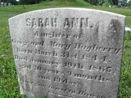 HAYBERRY, SARAH ANN - Montgomery County, Pennsylvania   SARAH ANN HAYBERRY - Pennsylvania Gravestone Photos