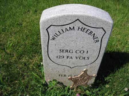 HEEBNER (CW), WILLIAM - Montgomery County, Pennsylvania   WILLIAM HEEBNER (CW) - Pennsylvania Gravestone Photos