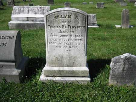 JACKSON, WILLIAM S. - Montgomery County, Pennsylvania   WILLIAM S. JACKSON - Pennsylvania Gravestone Photos