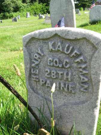 KAUFMAN (CW), HENRY - Montgomery County, Pennsylvania | HENRY KAUFMAN (CW) - Pennsylvania Gravestone Photos