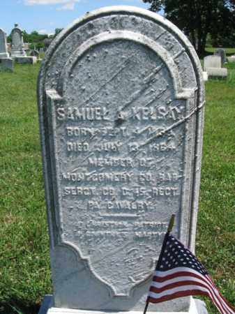 KELSAY (KELSEY) (CW), SAMUEL A. - Montgomery County, Pennsylvania | SAMUEL A. KELSAY (KELSEY) (CW) - Pennsylvania Gravestone Photos
