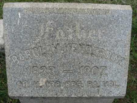 KENDERDINE  (CW), BARCLAY - Montgomery County, Pennsylvania | BARCLAY KENDERDINE  (CW) - Pennsylvania Gravestone Photos
