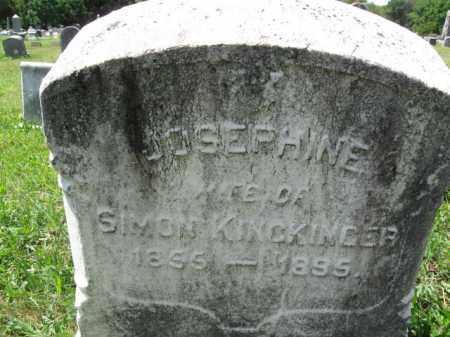 KINCKINGER, JOSEPHINE - Montgomery County, Pennsylvania | JOSEPHINE KINCKINGER - Pennsylvania Gravestone Photos