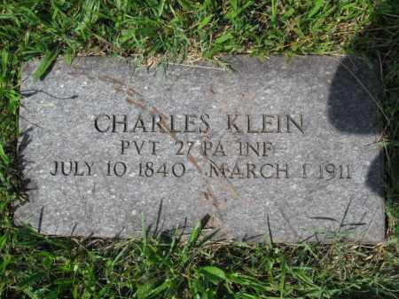 KLEIN (CW), CHARLES - Montgomery County, Pennsylvania | CHARLES KLEIN (CW) - Pennsylvania Gravestone Photos