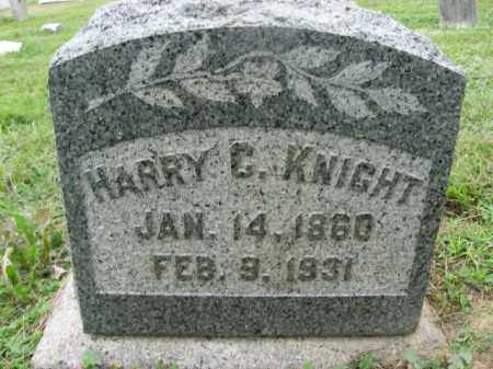 KNIGHT, HARRY C - Montgomery County, Pennsylvania | HARRY C KNIGHT - Pennsylvania Gravestone Photos