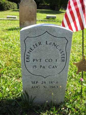 LANCASTER (CW), EBENEZER - Montgomery County, Pennsylvania   EBENEZER LANCASTER (CW) - Pennsylvania Gravestone Photos