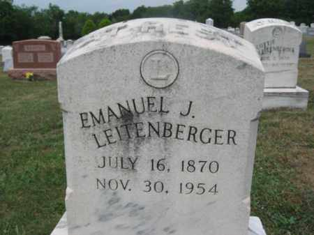 LEITENBERGER, MANUEL J. - Montgomery County, Pennsylvania | MANUEL J. LEITENBERGER - Pennsylvania Gravestone Photos