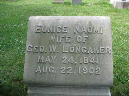 LONGAKER, EUNICE NAOMI - Montgomery County, Pennsylvania | EUNICE NAOMI LONGAKER - Pennsylvania Gravestone Photos