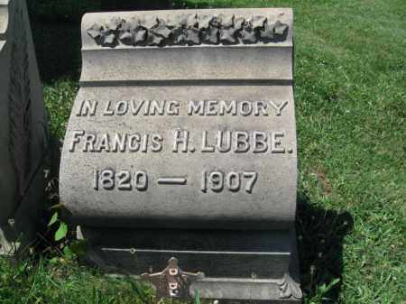 LUBBE (CW), FRANCIS H. - Montgomery County, Pennsylvania | FRANCIS H. LUBBE (CW) - Pennsylvania Gravestone Photos