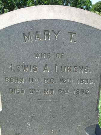 LUKENS, MARY T. - Montgomery County, Pennsylvania | MARY T. LUKENS - Pennsylvania Gravestone Photos