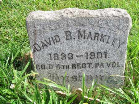 MARKLEY (CW), DAVID B. - Montgomery County, Pennsylvania | DAVID B. MARKLEY (CW) - Pennsylvania Gravestone Photos