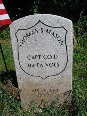 MASON (CW), THOMAS S. - Montgomery County, Pennsylvania | THOMAS S. MASON (CW) - Pennsylvania Gravestone Photos