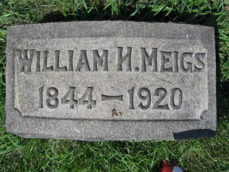 MEIGS, WILLIAM H. - Montgomery County, Pennsylvania | WILLIAM H. MEIGS - Pennsylvania Gravestone Photos