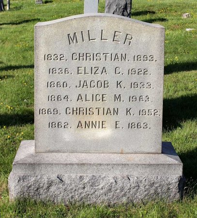 MILLER, ALICE M. - Montgomery County, Pennsylvania | ALICE M. MILLER - Pennsylvania Gravestone Photos
