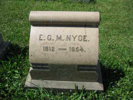 NYCE, E.G.M. - Montgomery County, Pennsylvania | E.G.M. NYCE - Pennsylvania Gravestone Photos