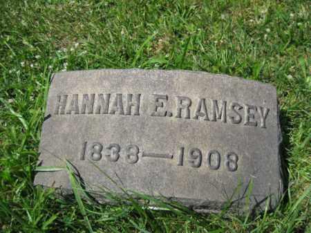 RAMSEY, HANNAH E. - Montgomery County, Pennsylvania | HANNAH E. RAMSEY - Pennsylvania Gravestone Photos