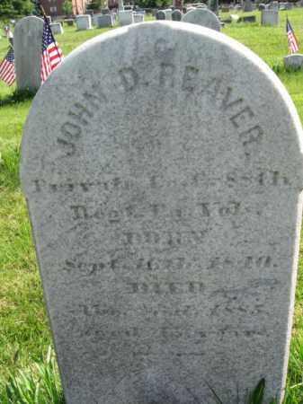 REAVER (CW), JOHN D (B) - Montgomery County, Pennsylvania | JOHN D (B) REAVER (CW) - Pennsylvania Gravestone Photos