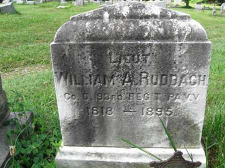 RUDBACH (RUDDBACH) (CW), WILLIAM A. - Montgomery County, Pennsylvania | WILLIAM A. RUDBACH (RUDDBACH) (CW) - Pennsylvania Gravestone Photos
