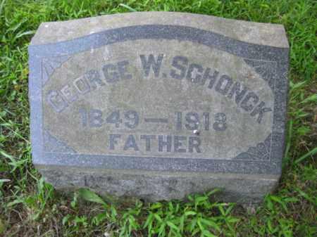 SCHONCK, GEORGE W. - Montgomery County, Pennsylvania | GEORGE W. SCHONCK - Pennsylvania Gravestone Photos