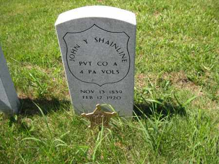 SHAINLINE (CW), JOHN Y. - Montgomery County, Pennsylvania   JOHN Y. SHAINLINE (CW) - Pennsylvania Gravestone Photos