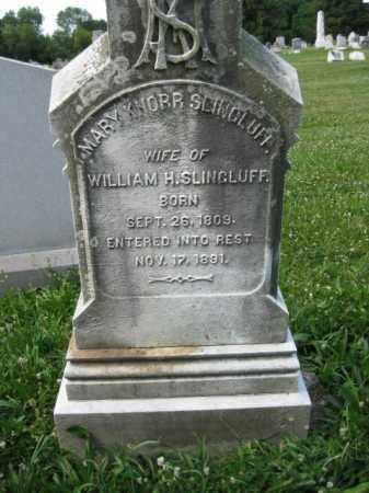 KNORR SLINGLUFF, MARY - Montgomery County, Pennsylvania | MARY KNORR SLINGLUFF - Pennsylvania Gravestone Photos