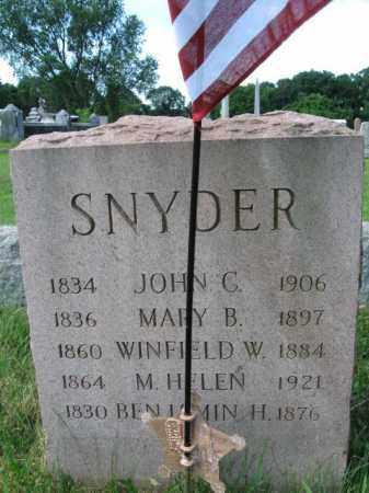 SNYDER  (CW), CAPT. JOHN C. - Montgomery County, Pennsylvania   CAPT. JOHN C. SNYDER  (CW) - Pennsylvania Gravestone Photos