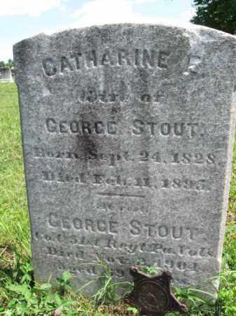 STOUT (CW), GEORGE - Montgomery County, Pennsylvania | GEORGE STOUT (CW) - Pennsylvania Gravestone Photos