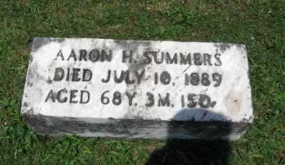 SUMMERS, AARON H. - Montgomery County, Pennsylvania | AARON H. SUMMERS - Pennsylvania Gravestone Photos