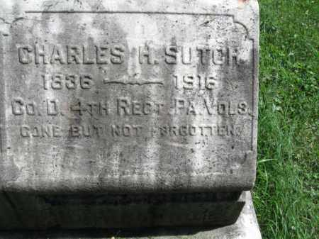 SUTCH (CW), CHARLES H. - Montgomery County, Pennsylvania | CHARLES H. SUTCH (CW) - Pennsylvania Gravestone Photos