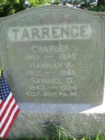 TARRANCE (CW), SAMUEL D. - Montgomery County, Pennsylvania   SAMUEL D. TARRANCE (CW) - Pennsylvania Gravestone Photos
