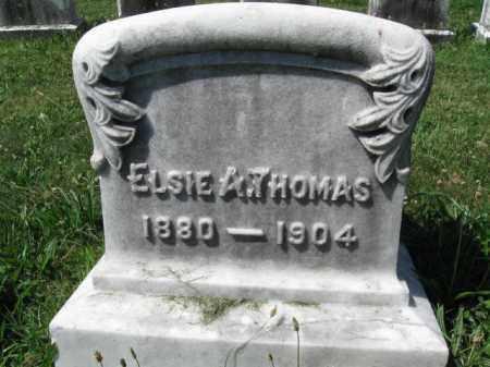 THOMAS, ELSIE A, - Montgomery County, Pennsylvania | ELSIE A, THOMAS - Pennsylvania Gravestone Photos