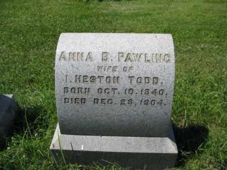 TODD, ANNA B. - Montgomery County, Pennsylvania | ANNA B. TODD - Pennsylvania Gravestone Photos