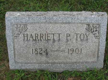 TOY, HARRIET P. - Montgomery County, Pennsylvania | HARRIET P. TOY - Pennsylvania Gravestone Photos