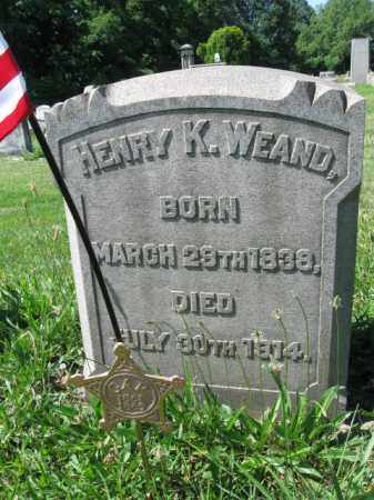 WEAND (CW), HENRY K. - Montgomery County, Pennsylvania | HENRY K. WEAND (CW) - Pennsylvania Gravestone Photos