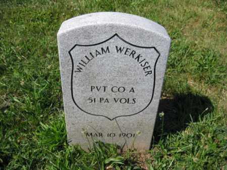 WERKISER (CW), WILLIAM - Montgomery County, Pennsylvania | WILLIAM WERKISER (CW) - Pennsylvania Gravestone Photos
