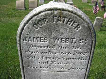 WEST,SR., JAMES - Montgomery County, Pennsylvania | JAMES WEST,SR. - Pennsylvania Gravestone Photos