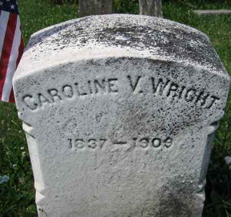WRIGHT, CAROLINE V. - Montgomery County, Pennsylvania | CAROLINE V. WRIGHT - Pennsylvania Gravestone Photos
