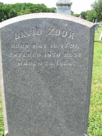 ZOOK, DAVID - Montgomery County, Pennsylvania | DAVID ZOOK - Pennsylvania Gravestone Photos