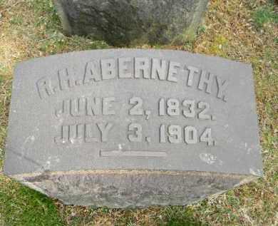 ABERNETHY (CW), R.H. - Northampton County, Pennsylvania   R.H. ABERNETHY (CW) - Pennsylvania Gravestone Photos