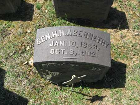 ABERNETHY, GEN. H.H. - Northampton County, Pennsylvania   GEN. H.H. ABERNETHY - Pennsylvania Gravestone Photos