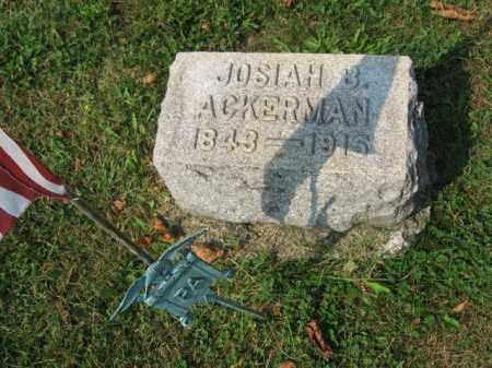 ACKERMAN (CW), JOSIAH B - Northampton County, Pennsylvania   JOSIAH B ACKERMAN (CW) - Pennsylvania Gravestone Photos