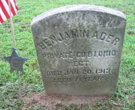 ADER (CW), BENJAMIN - Northampton County, Pennsylvania | BENJAMIN ADER (CW) - Pennsylvania Gravestone Photos