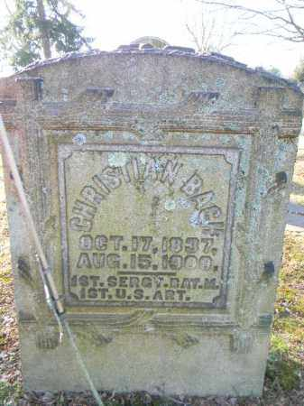 BACH (CW), CHRISTIAN - Northampton County, Pennsylvania | CHRISTIAN BACH (CW) - Pennsylvania Gravestone Photos